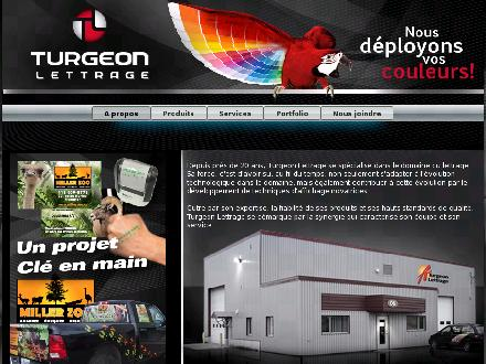 A Turgeon Lettrage (418-885-4918) - Website thumbnail - http://www.turgeonlettrage.com