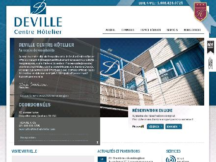 Deville Centre H&ocirc;telier (1-888-828-0725) - Onglet de site Web - http://www.devillehotelier.com