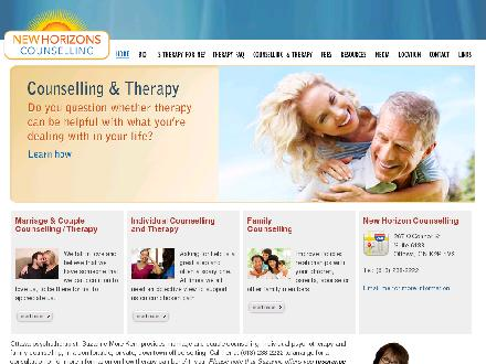 New Horizons Counselling (613-238-2222) - Onglet de site Web - http://www.newhorizonscounselling.com