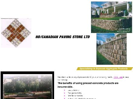 H O Concrete/Canadian Paving Stone Ltd (Joint Venture) (403-247-9542) - Website thumbnail - http://www.canadianpavingstone.com