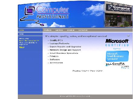Computer Professionals (250-832-4286) - Website thumbnail - http://www.computerprofs.com