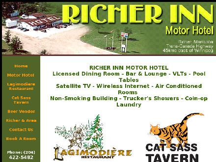 Richer Inn Motor Hotel (204-422-5482) - Onglet de site Web - http://www.richerinn.com
