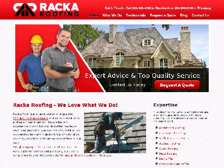 Racka Roofing Inc (204-515-1481) - Website thumbnail - http://www.racka.ca