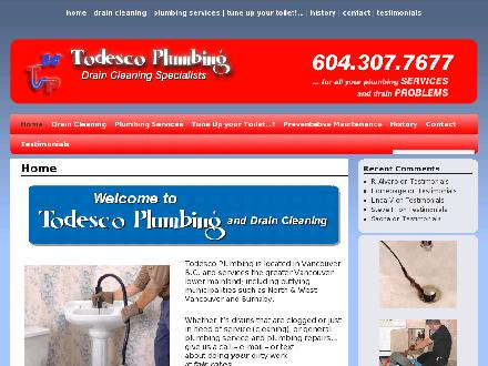 Todesco Plumbing and Drain Cleaning (604-307-7677) - Onglet de site Web - http://www.todescoplumbing.com