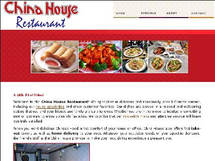 China-House Restaurant (709-754-2892) - Onglet de site Web - http://www.chinahouse.ca