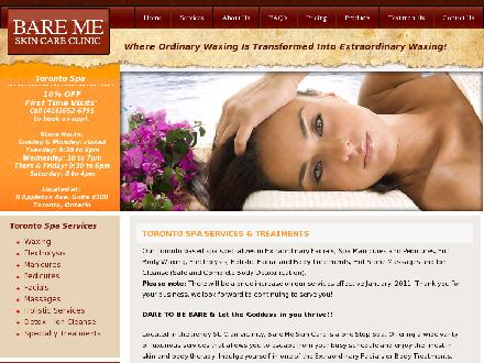 Bare Me Skin Care (416-652-6795) - Website thumbnail - http://www.bareme.ca