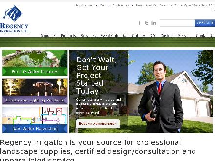 Regency Irrigation Ltd (403-766-9340) - Onglet de site Web - http://www.regencyirrigation.com