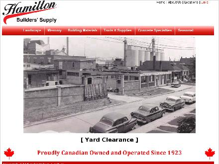 Hamilton Builder's Supply (289-348-0976) - Website thumbnail - http://www.hamiltonbuilders.com