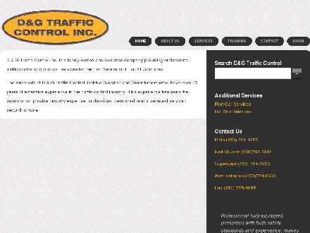 D&G Traffic Control Inc (250-321-3355) - Website thumbnail - http://www.dgtrafficcontrol.com