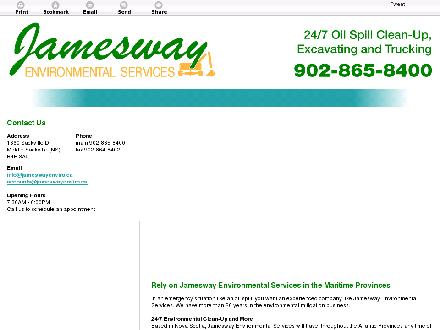 Jamesway Environmental Services (902-865-8400) - Website thumbnail - http://jameswayenviro.ca/