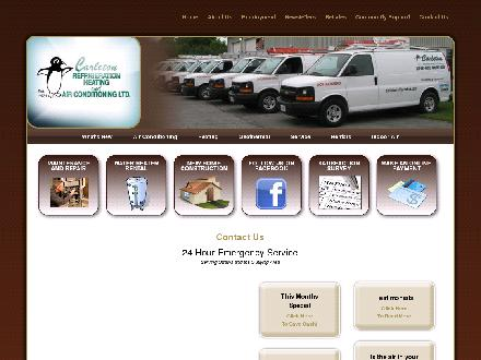 Carleton Refrigeration Heating & Air Conditioning Ltd (613-257-8282) - Website thumbnail - http://www.carletonrefrigeration.com/