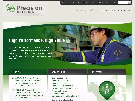 Precision Well Servicing (204-748-2381) - Website thumbnail - http://www.precisiondrilling.com