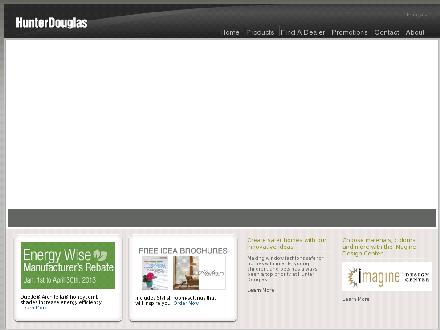 Hunter Douglas Canada LP (1-800-265-8000) - Website thumbnail - http://www.hunterdouglas.ca