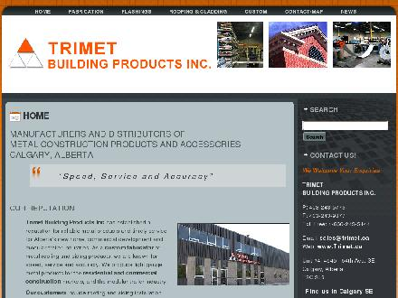 Trimet Building Products Inc (403-243-5775) - Onglet de site Web - http://www.trimet.ca