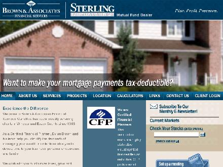 Brown & Associates Financial Services (519-944-4232) - Onglet de site Web - http://www.bafs.ca
