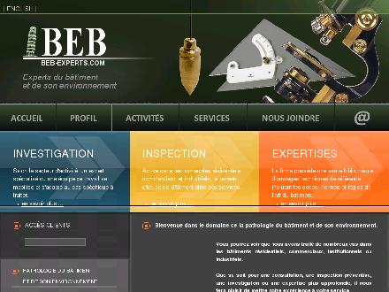 BEB Bureau d'Etudes du Bâtiment (514-254-2226) - Website thumbnail - http://www.beb-experts.com