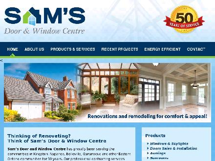 Sam's Door & Window Centre (613-354-3953) - Website thumbnail - http://www.samsdoorandwindow.com