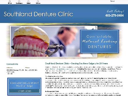 Southland Denture Clinic (403-798-0821) - Website thumbnail - http://www.southlanddentureclinic.ca