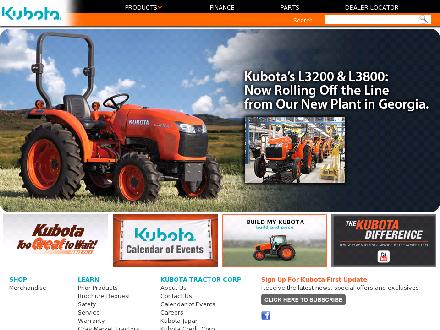 Kubota Farm and Ranch (780-928-3460) - Website thumbnail - http://www.kubota.com