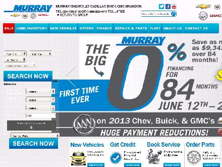 Murray Collision & Glass (204-728-0130) - Website thumbnail - http://www.murraychevbrandon.com