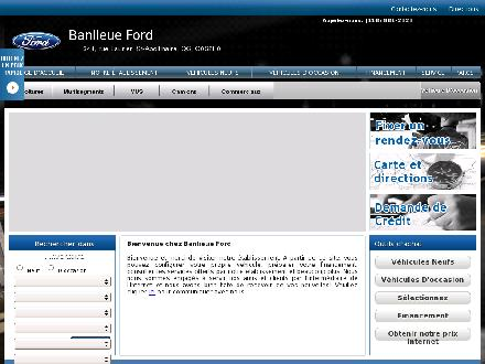 Banlieue Ford Inc (418-881-2323) - Onglet de site Web - http://www.banlieueford.com