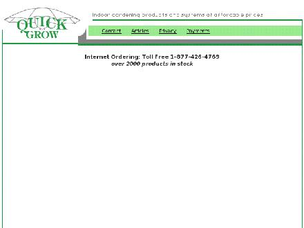 Quick Grow (403-276-5156) - Onglet de site Web - http://www.quickgrow.com