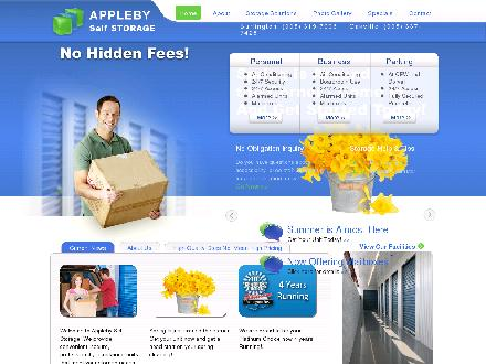 Appleby Self Storage (905-319-7996) - Website thumbnail - http://www.applebyselfstorage.com