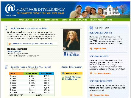 Mortgage Intelligence (519-250-4848) - Onglet de site Web - http://www.shopmortgages.ca