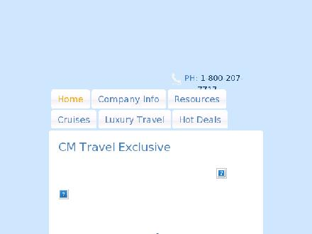CM Travel Ltd (604-859-3931) - Onglet de site Web - http://www.cmtravelbrokers.com