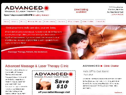 Advanced Massage & Laser Therapy Clinic (204-474-2020) - Onglet de site Web - http://www.advanced-massage.ca