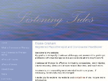 Eloise Graham Physiotherapy CraniosacralTherapy (613-234-3920) - Onglet de site Web - http://www.eloisegraham.ca