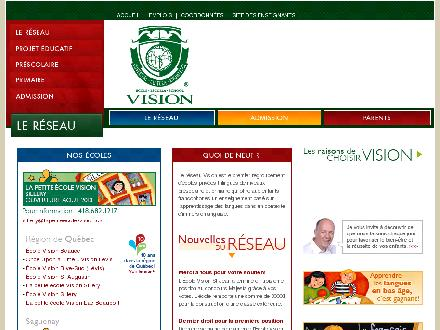 Ecole Anglaise once Upon a time.... Vision (819-358-6440) - Onglet de site Web - http://www.visionschools.com