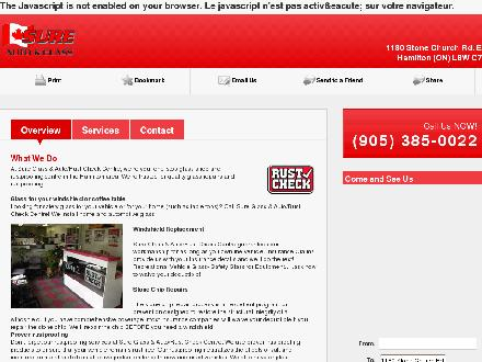 Sure Auto & Glass (905-385-0022) - Website thumbnail - http://sureglassrustcheck.ca