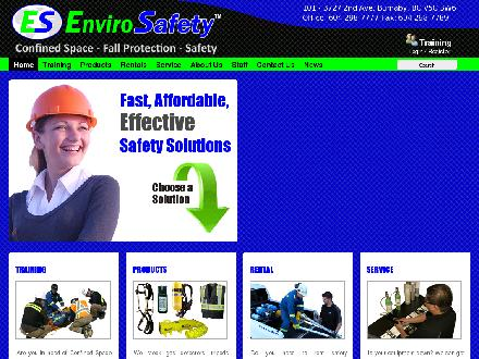 Envirosafety (604-298-7777) - Website thumbnail - http://www.envirosafety.ca