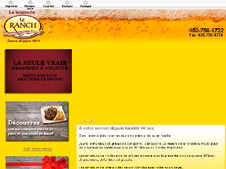 Brasserie Le Ranch (450-499-0018) - Website thumbnail - http://brasserieleranch.com