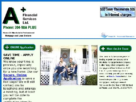 A Plus Financial Services (204-982-7587) - Website thumbnail - http://aplusfinancial.com