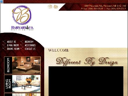 Barnaby & Co Furniture Ltd (506-855-0035) - Onglet de site Web - http://www.barnabyandco.com
