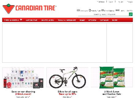 Canadian Tire (905-822-6234) - Onglet de site Web - http://www.canadiantire.ca