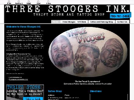 Three Stooges Ink Tattooing & Piercing (780-761-3404) - Website thumbnail - http://threestoogesink.com/