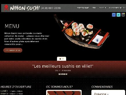 Nihon Sushi (418-687-2229) - Onglet de site Web - http://www.nihonsushi.ca