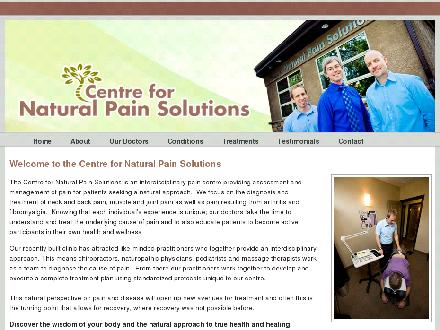 Centre For Natural Pain Solutions (204-775-4539) - Onglet de site Web - http://www.naturalpainsolutions.ca