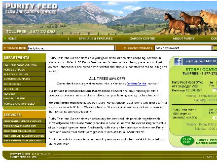 Purity Feed Farm & Garden Centre (250-571-1556) - Website thumbnail - http://www.purityfeed.com