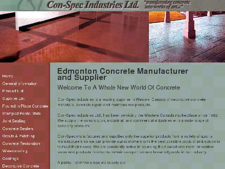 Con-Spec Industries Ltd (780-437-6136) - Website thumbnail - http://www.conspecindustries.com