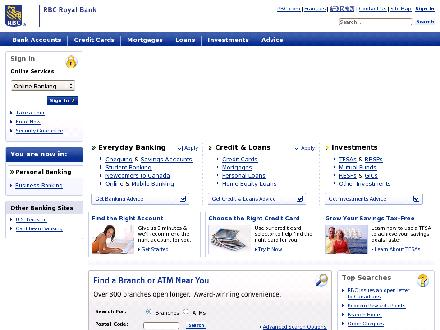 Rbcroyalbank.com - Onglet de site Web - http://www.rbcroyalbank.com