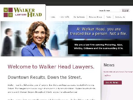 Walker Head (905-839-4484) - Onglet de site Web - http://www.walkerhead.com