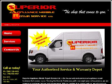Superior Appliance Mobile Repair Service Ltd (780-532-4433) - Website thumbnail - http://www.superiorappliancemobile.com