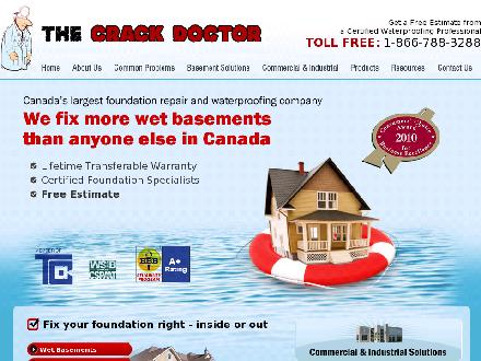 The Crack Doctor (905-728-0136) - Onglet de site Web - http://www.thecrackdoctor.ca