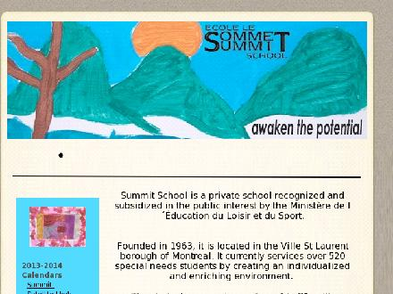 Summit School-Ecole Le Sommet (514-744-2867) - Onglet de site Web - http://www.summit-school.com