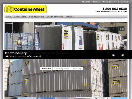 ContainerWest (604-322-0533) - Onglet de site Web - http://www.containerwest.com
