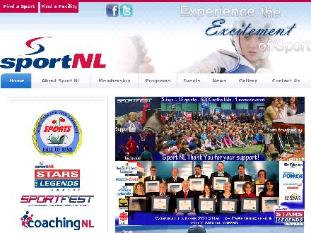 Sport Newfoundland And Labrador (709-576-4932) - Onglet de site Web - http://www.sportnl.ca